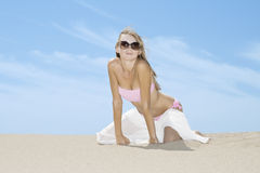 Woman posing on the beach Stock Photography