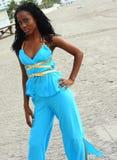 Woman Posing At The Beach Royalty Free Stock Photos
