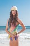 Woman posing at beach Royalty Free Stock Photography