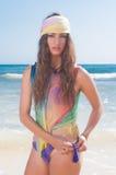 Woman posing at beach Royalty Free Stock Photos
