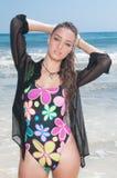 Woman posing at beach Stock Photos