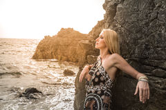 Woman posing on the beach Stock Photo