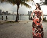 Woman posing in a beautiful dress Stock Photography