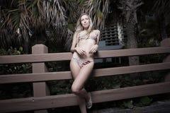Woman posing in a bikini Royalty Free Stock Photos