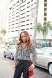 Woman posing at Downtown Miami Stock Photos