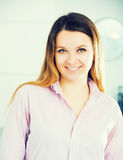 Woman posing easily with good mood Royalty Free Stock Photography