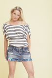 Woman posing in fashionable clothing Royalty Free Stock Image