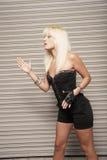 Woman posing like a robot Royalty Free Stock Photography