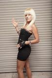 Woman posing like a robot Royalty Free Stock Photo