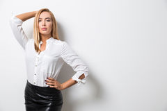 Woman posing for magazine cover Royalty Free Stock Images