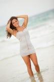 Woman posing in the ocean Royalty Free Stock Photos