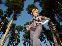 Woman posing outdoors Royalty Free Stock Photos