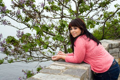 Woman Posing by the Sea Royalty Free Stock Image