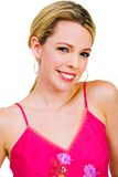 Woman posing and smiling Royalty Free Stock Photos