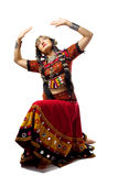 Woman posing in traditional indian costume Royalty Free Stock Photo
