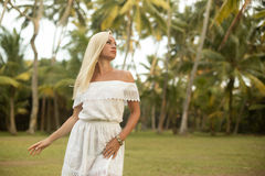 Woman posing in the tropical forest Royalty Free Stock Photo