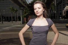 Woman posing in an urban setting Stock Photo