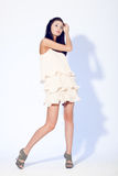Woman posing wearing dress Royalty Free Stock Images
