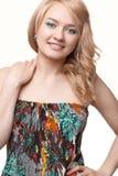 Woman posing wearing sundress Royalty Free Stock Photo