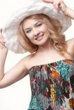 Woman posing wearing sundress Royalty Free Stock Photography