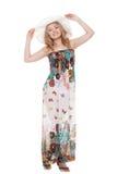 Woman posing wearing sundress Stock Photos