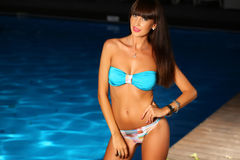 Woman posing wearing a swimsuit Royalty Free Stock Images