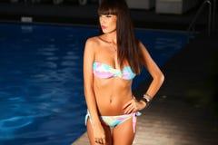 Woman posing wearing a swimsuit Stock Image