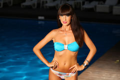 Woman posing wearing a swimsuit Royalty Free Stock Photos