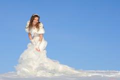 Woman posing in wedding dress Stock Photos