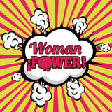 Woman power comics. Over grunge background  vector illustration Stock Photo