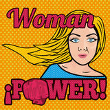Woman power comics Royalty Free Stock Photo