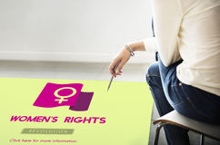 Woman Power Feminist Equal Rights Concept.  stock images