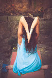 Woman practice yoga outdoor Stock Photography