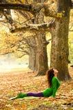 Woman practice yoga outdoor Royalty Free Stock Photos