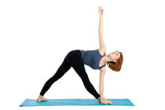 Woman Practices Yoga Royalty Free Stock Photo