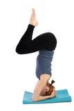 Woman Practices Yoga Stock Photos