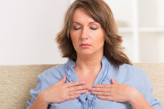 Woman practicing energy medicine Stock Photography