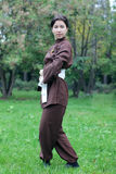 Woman practicing exercise  tai chi Royalty Free Stock Photos