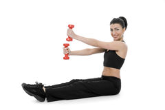 Woman practicing fitness Royalty Free Stock Photo