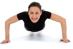 Woman practicing fitness Stock Image