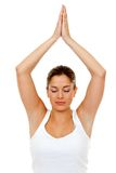 Woman practicing yoga Stock Images