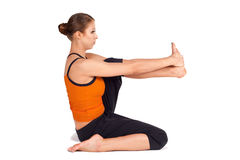 Woman Practicing Yoga Royalty Free Stock Photo