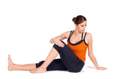 Woman Practicing Yoga Stock Image