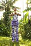Woman practicing yoga. Stock Image