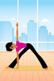 Yoga Cartoon Royalty Free Stock Images
