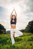 Woman Practicing Yoga Royalty Free Stock Photo
