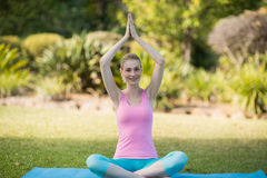 Woman practicing yoga Royalty Free Stock Images