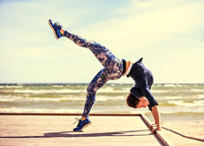 Woman practicing yoga Royalty Free Stock Photos