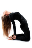 Woman practicing Yoga in a Studio Royalty Free Stock Images