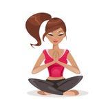Woman practicing yoga. Vector Illustration Royalty Free Stock Photo